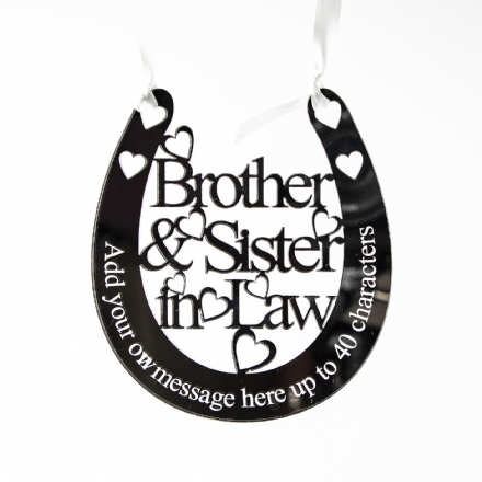 Personalised Wedding Horseshoe Brother & Sister in Law BSL